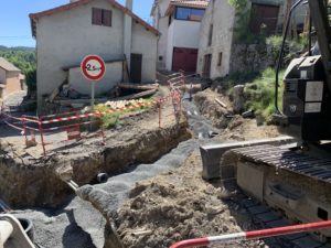 Chantier SOVETRA - Restructuration des réseaux humides (AEP, EU) et aménagement de surface